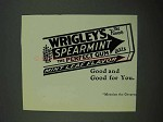 1931 Wrigley's Spearmint Gum Ad - Good for You