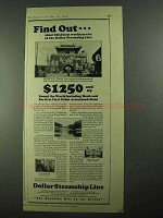 1926 Dollar Steamship Lines Ad - Find Out