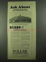 1926 Dollar Steamship Lines Ad - Ask About