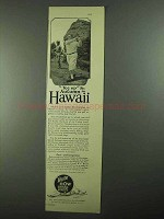 1925 Hawaii Tourist Bureau Ad - Tee Up This Autumn