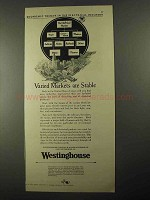 1925 Westinghouse Electric Ad - Varied Markets Stable