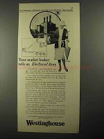 1925 Westinghouse Electric Ad - Your Market Basket