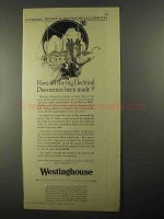 1925 Westinghouse Electric Ad - Electrical Discoveries