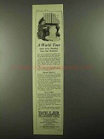 1925 Dollar Steamship Lines Ad - A World Tour