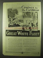 1925 Great White Fleet Ad - Cruises to The Caribbean