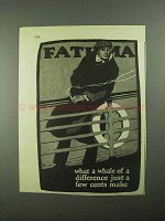 1925 Fatima Cigarettes Advertisement - What A Whale of Difference
