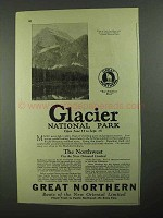 1925 Great Northern Railroad Advertisement - Glacier National Park