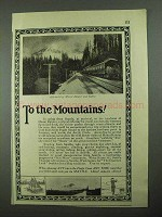 1925 Seattle Washington Ad - To The Mountains