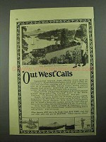 1925 Seattle Washington Ad - Out West Calls