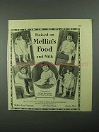 1925 Mellin's Food Ad - Raised on Mellin's and Milk