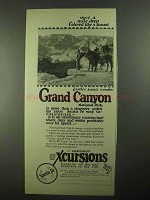 1923 Santa Fe Railroad Ad - Grand Canyon