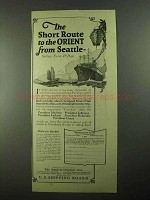 1923 U.S. Shipping Board Cruise Ad - To the Orient