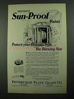 1923 Pittsburgh Plate Glass Patton's Sun-Proof Paint Ad