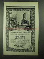 1923 Sanitas Wall Coverings Ad - Spring Hand in Hand