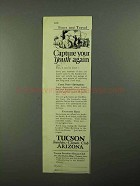 1923 Tucson Arizona Ad - Capture Your Youth Again