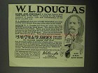1923 W.L. Douglas Shoes Ad - Name and Portrait