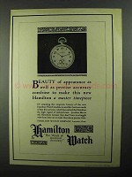 1922 Hamilton Watch Ad - Beauty of Apperance
