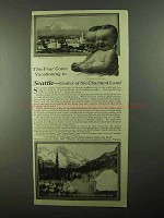 1922 Seattle Washington Ad - This Year Come Vacationing