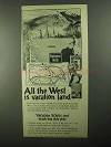 1922 Burlington Route Railroad Ad - All The West