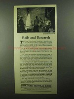 1922 New York Central Ad - Rails and Research