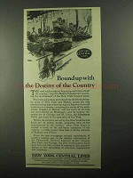 1922 New York Central Ad - Destiny of the Country