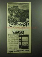 1922 Great Northern Railway Ad - Comfort in the Wilds
