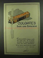 1922 Colgate's Toothpaste Ad - Safe and Efficient