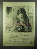 1922 Ivory Soap Ad - Whenever Soap Contact the Skin