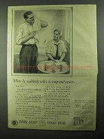 1922 Ivory Soap Ad - When He Suddenly Takes To