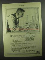 1922 Ivory Soap Ad - Contact With The Skin