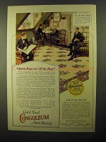 1922 Congoleum Gold Seal Art-Rug Ad - Pattern No. 514