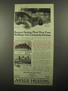 1922 American District Steam Adsco Heating Ad - Fires