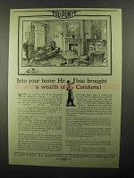 1922 Du Pont Products Ad - Brought Wealth of Comforts