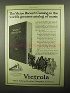 1922 Victor Victrola Ad - Record Catalog the Greatest