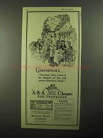 1922 Bankers Trust Company ABA Cheques Ad - Comfortable