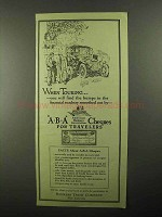 1922 Bankers Trust Company ABA Cheques Ad - Touring