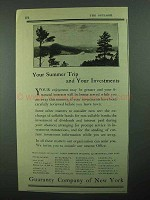 1922 Guaranty Company of New York Ad - Summer Trip