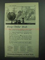 1922 Guaranty Company of New York Ad - Foreign Bonds