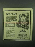 1922 Bankers Trust Company ABA Cheques Ad - Welcome