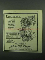1922 Bankers Trust Company ABA Cheques Ad - Universal