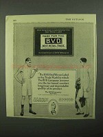 1922 BVD Underwear Ad - The Red Woven Label