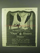 1922 Onyx Pointex Hosiery Ad - Reflection of Perfection