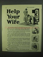 1922 3-in-One Oil Ad - Help Your Wife