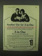 1922 3-in-One Oil Ad - Another Use For