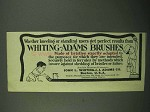 1922 Whiting-Adams Brushes Ad - Kneeling or Standing