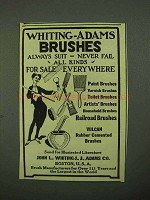 1922 Whiting-Adams Brushes Ad - Always Suit