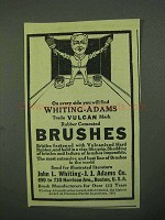 1922 Whiting-Adams Brushes Ad - On Every Side