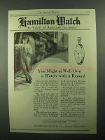 1921 Hamilton Watch Ad - You Might As Well Own