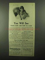 1921 Pepsodent Toothpaste Ad - You Will See