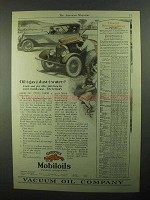 1921 Gargoyle Mobiloils Oil Ad - Oil+gas+dust+water